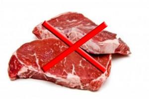 no a la carne roja